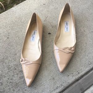 Jimmy Choo nude color patent leather flats size 41